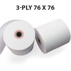CBE 3-Ply Kitchen Printer Roll 76 x 76 (Box of 20 Rolls)